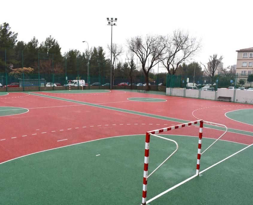 Campo de fútbol sala del colegio público Virgen del Cerro de Vallecas