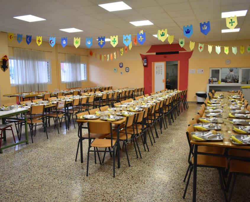 Comedor del colegio público Virgen del Cerro de Vallecas