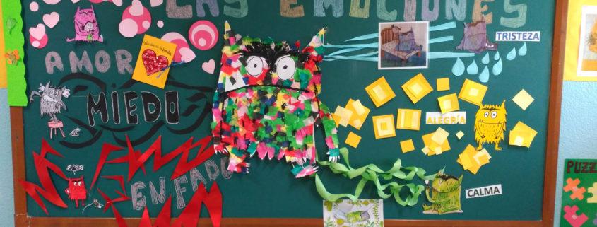 Mural de las emociones en el colegio público Virgen del Cerro de Vallecas